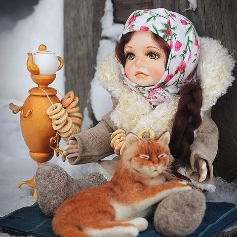 Куклы из русской деревни от мастерицы
