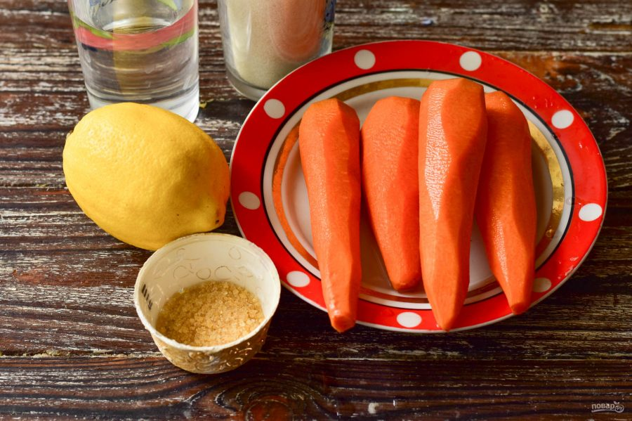 Морковный мармелад с желатином десерты,мармелад