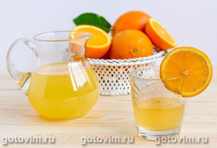 Апельсиновый квас. Фотография рецепта