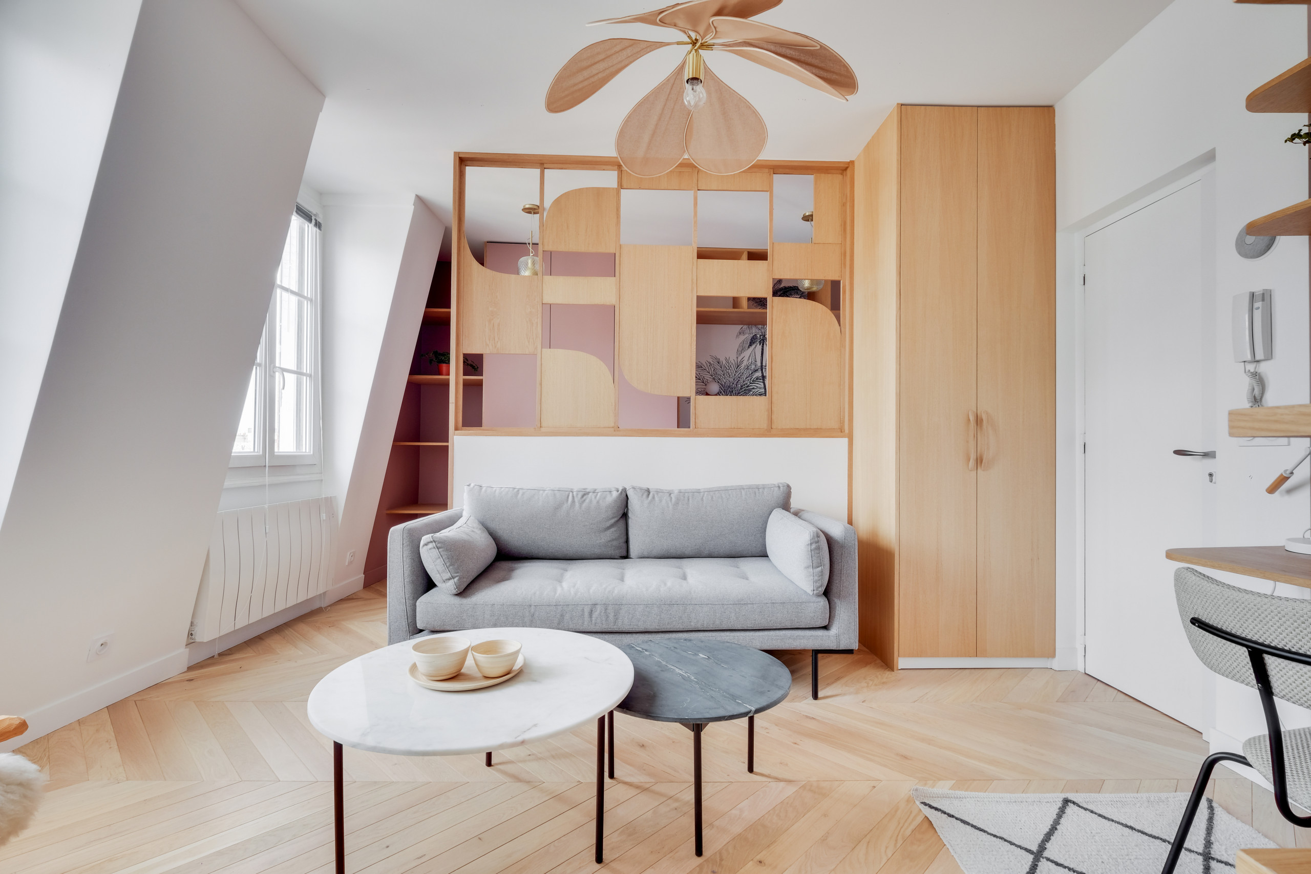 До и после: Студия 27 кв.м. в Париже идеи для дома,интерьер и дизайн
