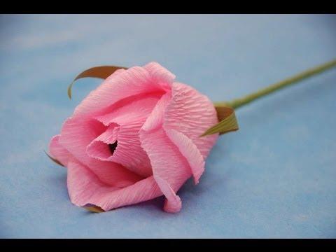 Роза из бумаги для букета из конфет. Мастер-класс. Букет из конфет.