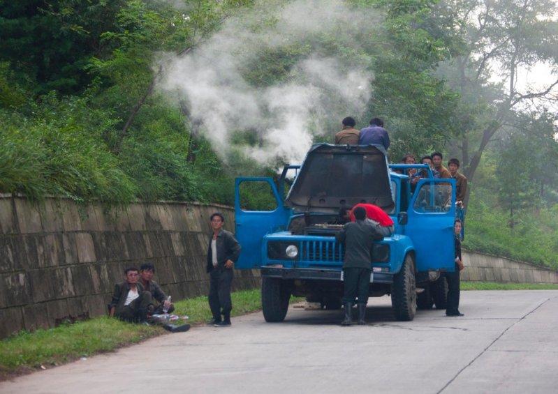 Фотографии дорог в Северной Корее