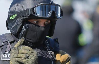Академию СБУ украсили огромным портретом бойца ФСБ