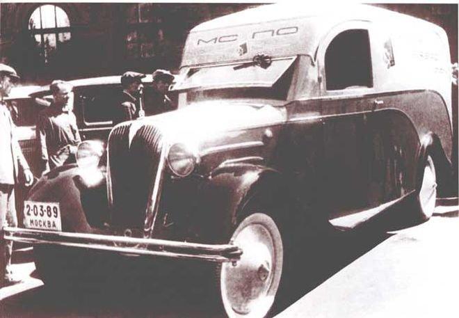 Мастерские автобазы мясокомбината им.Микояна освоили производство хлебных фургонов на шасси ГАЗ-АА с автоматической подачей лотков СССР, авто, автомобили, автофургон, грузовик, ретро техника, фургон, хлеб