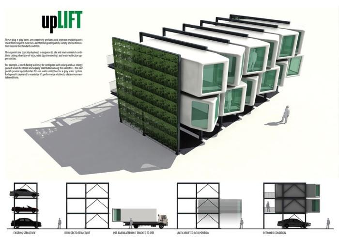 Интересный концепт upLIFT разработали американские архитекторы. | Фото: bigpicture.ru.
