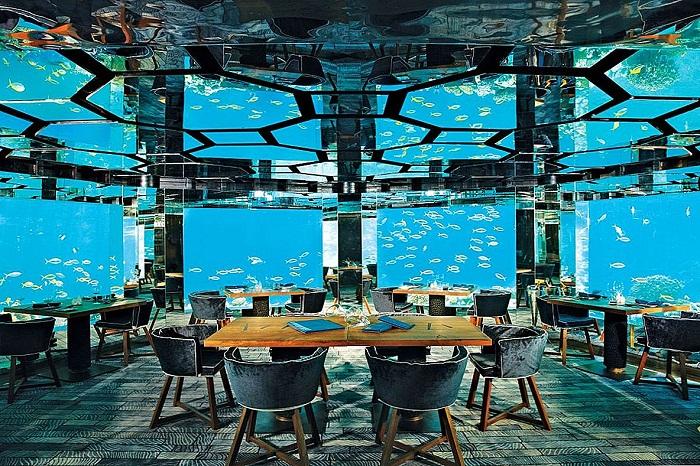 Подводный морской ресторан, который является частью курорта Anantara на Мальдивах. | Фото: ru.smarthomemaking.com.