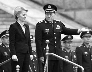 Министр обороны Германии в гостях у своего китайского коллеги