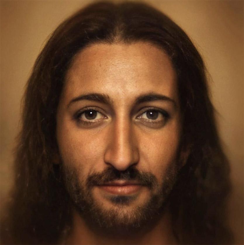 Нейросеть дорисовала лица людей из прошлого. Иисус Христос, Наполеон и Статуя Свободы , аж до мурашек интересное,фотография