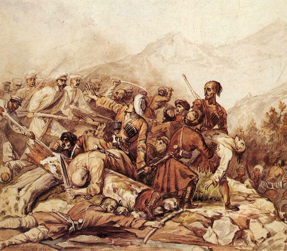 Гибель четырех фортов: битва с горцами за берег Черного моря история