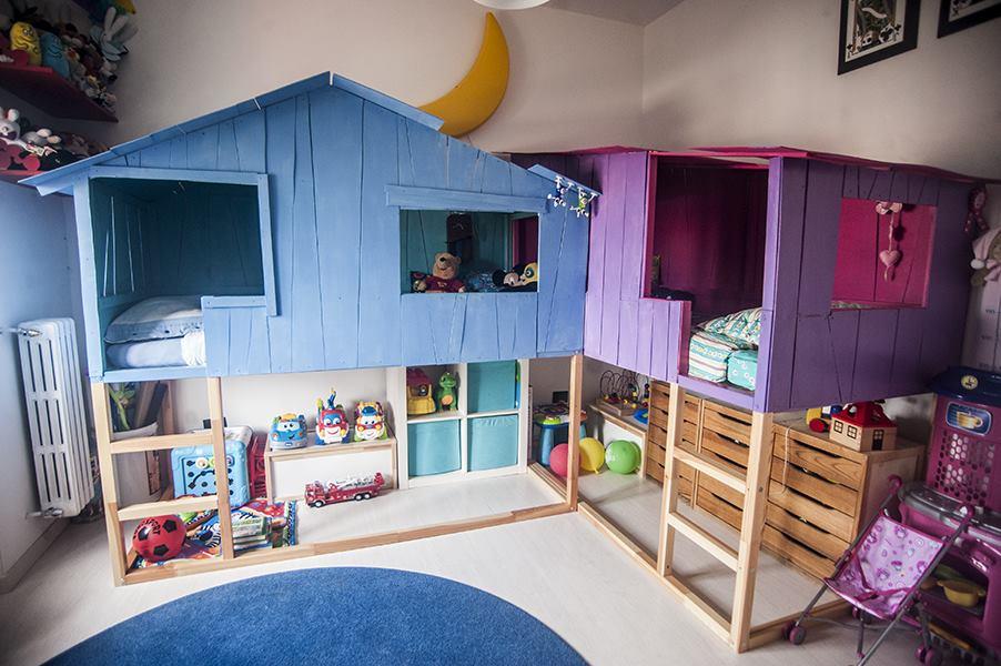 Как сделать огромный игровой домик из двухуровневых кроватей