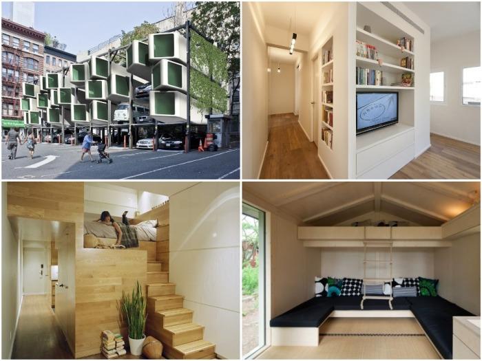 Уникальные дизайн-проекты крошечных домов, каждый сантиметр которых используется с умом. | Фото: pinterest.com.