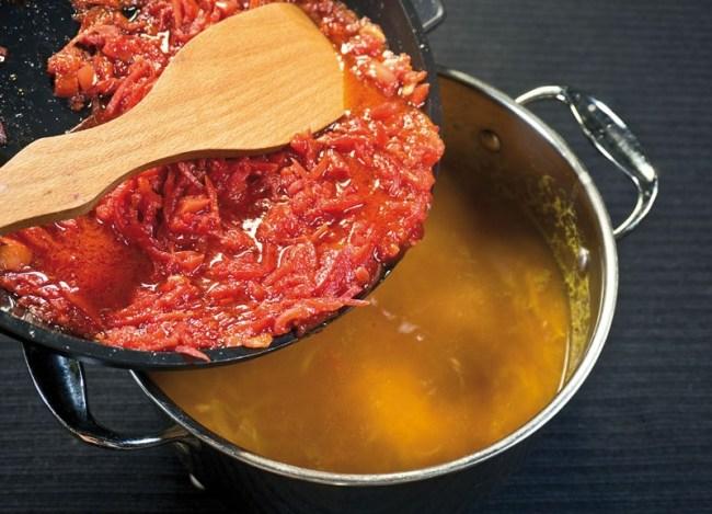 Борщ «как с мясом», но стопроцентно вегетарианский еда,пища,рецепты, борщ