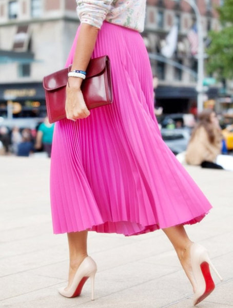 Выбираем высоту каблука под длину юбки
