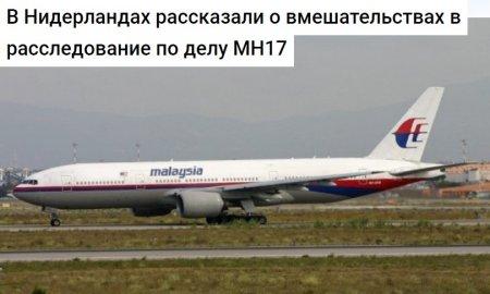 В Нидерландах раскрыли «теорию заговора» по MH17 и указали на Украину