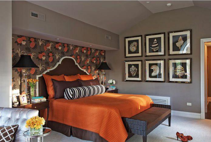 серо-оранжевое сочетание цветов