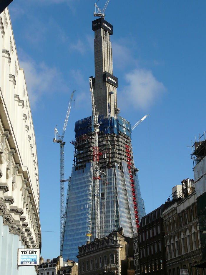 """20. Небоскреб """"Осколок"""" (The Shard). Лондон, Великобритания архитектура, достопримечательности, интересно, исторические фото, исторические фотографии, познавательно, сооружения, строительство"""