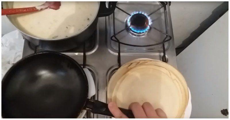 Необычный способ жарки блинов