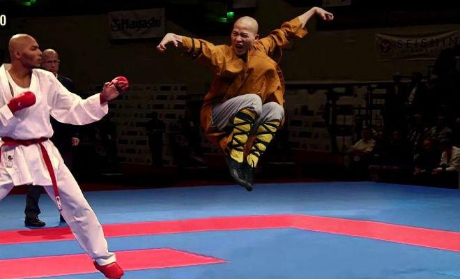 Шаолиньский монах крушит бойцов других стилей