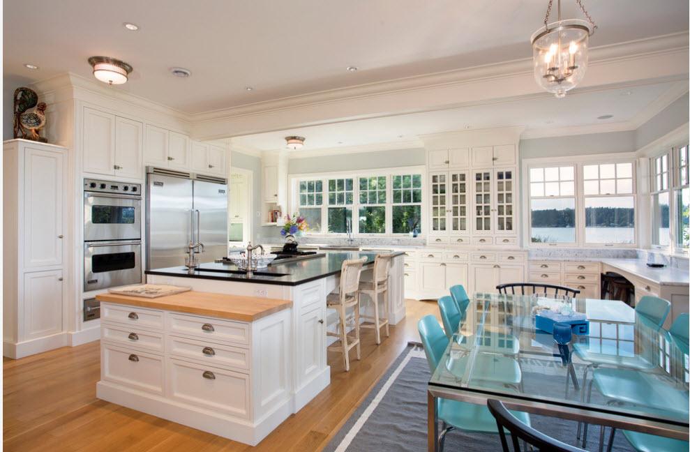 Белоснежный кухонный дизайн