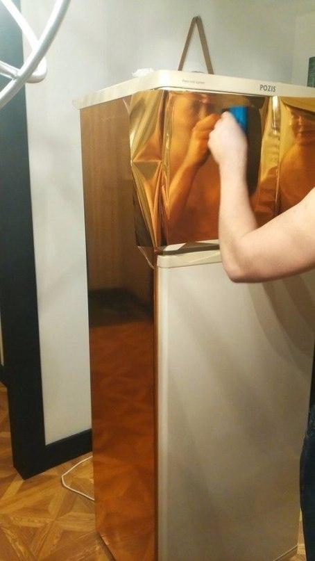 Делаем из старого холодильника — новый! «Идея на миллион» с клейкой пленкой
