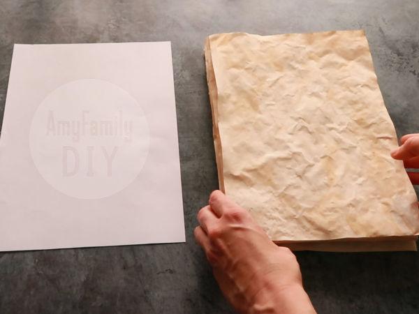 3 способа состарить офисную бумагу