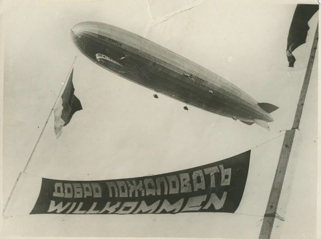 Немецкий дирижабль «Граф Цеппелин» в Москве в 1930 году