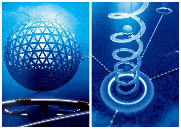 «Shimizu Corporation» планирует построить «Океаническую спираль» из пластика с помощью трехмерного принтера (Япония).