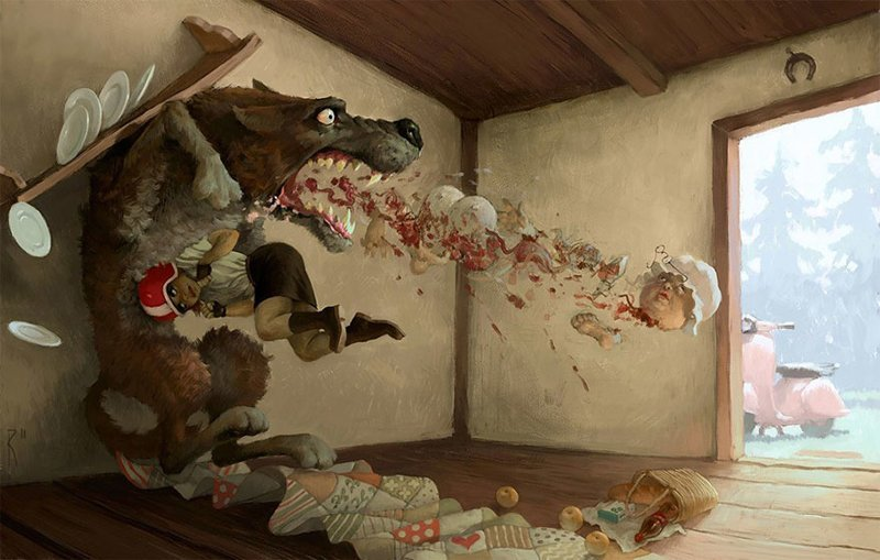 Недетские рисунки этого русского художника весьма неоднозначны иллюстрация