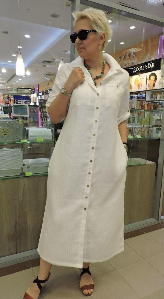 Эти льняные платья способна сшить каждая женщины