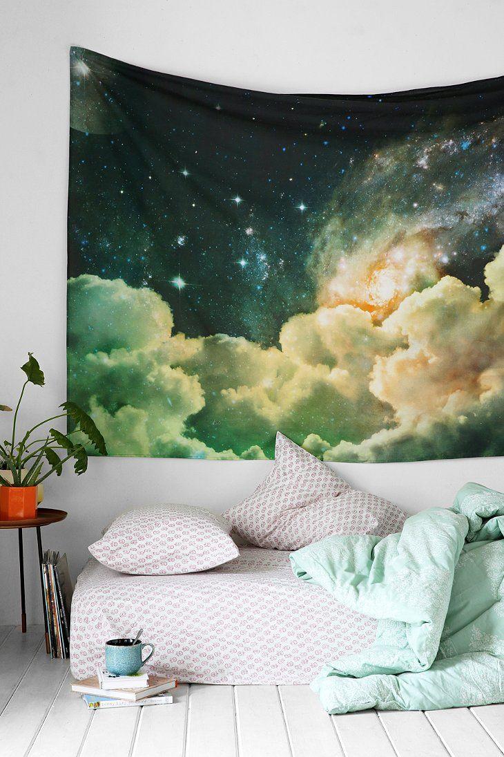Облака в интерьере - гобелен в дизайне