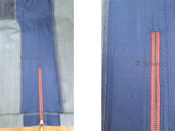 Оригинальная юбка-карандаш с лампасом на молнии. крой и шитьё