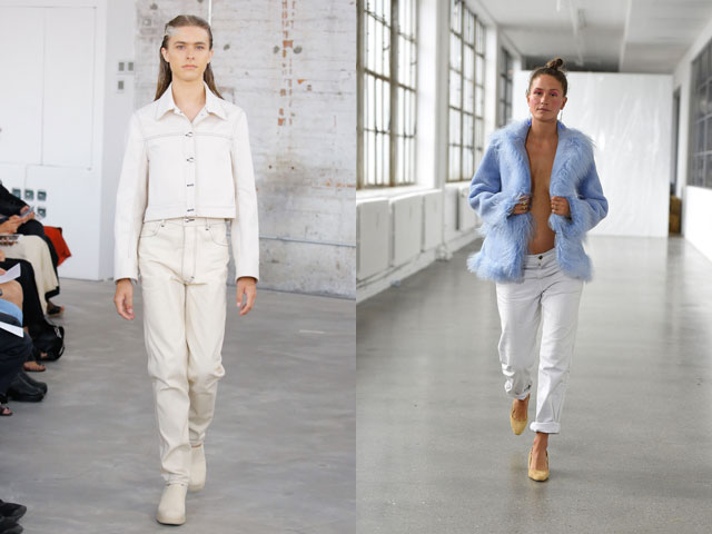Модные белые джинсы 2018