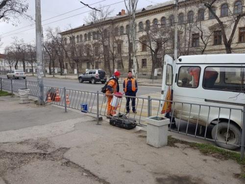 В Севастополе убрали пешеход…