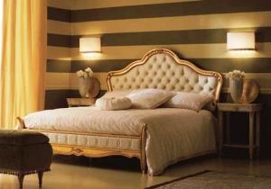 Настенные светильники в интерьере спальни