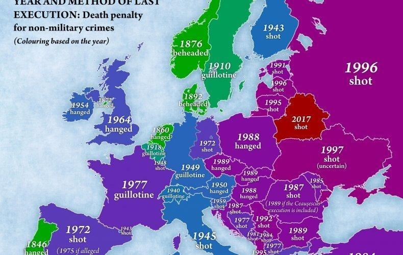 """Сегодня единственным """"палачом"""" Европы является Беларусь, которая не продемонстрировала никаких намерений в направлении отмены смертной казни Смертная казнь, споры, факты, цифры"""