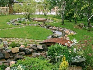 Оформление природных садов и ландшафта: декор и альтернатива газону (с видео)