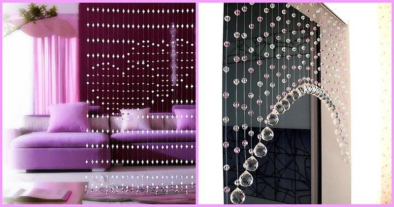 Необыкновенная красота: делаем своими руками невесомые шторы из бисера и бусин