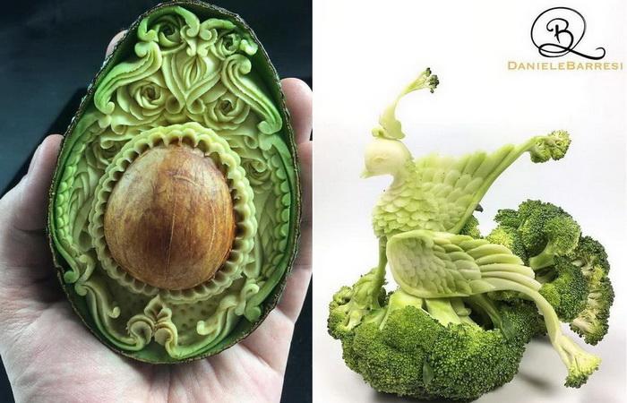 Мастерство карвинга по овощам и фруктам