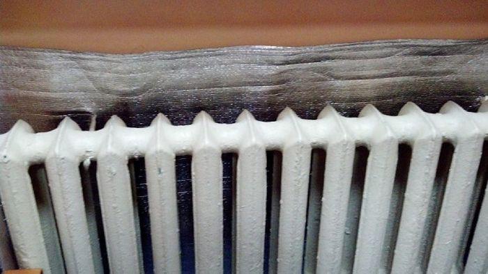 3. Повышение температуры помещения быт, фольга