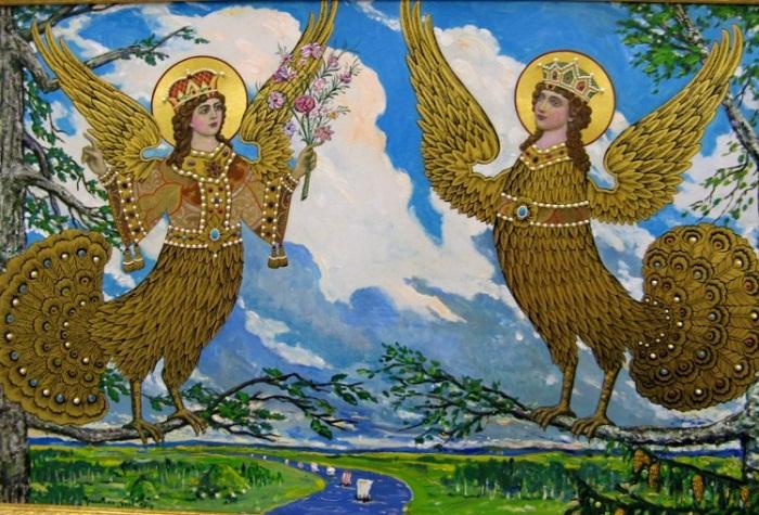 птица в славянской мифологии сирин картинка испорченную солнечную