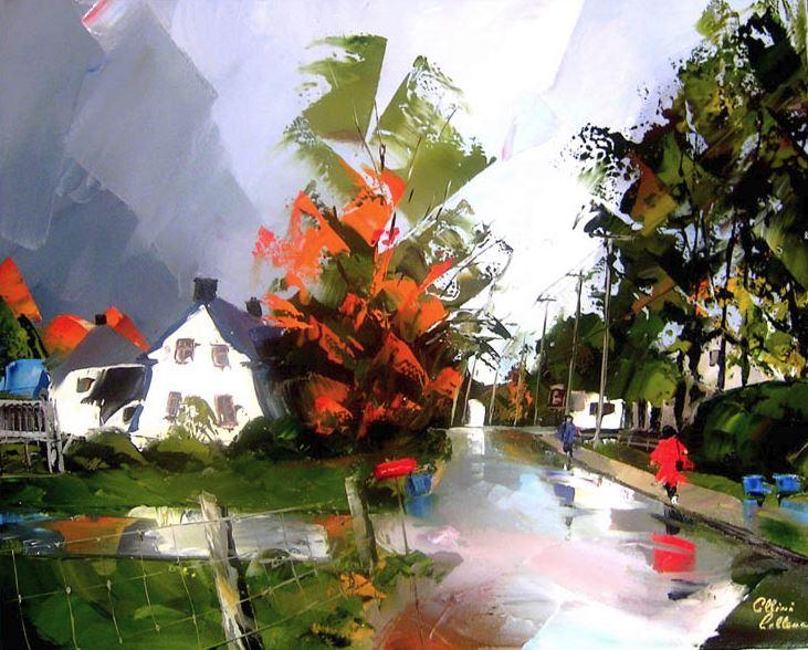 Канадский художник Albini Leblanc. Миниатюры мастихином. Шестая