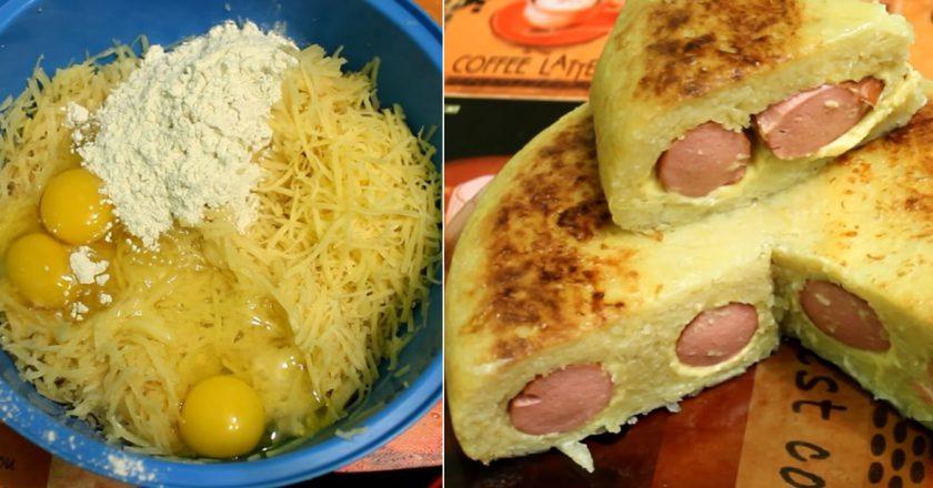 Картофельная запеканка с сосисками и сыром: проще рецепта не бывает!
