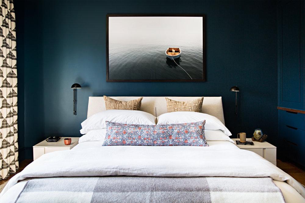 спальня в черном цвете