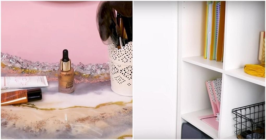 Необычное преображение обычной стены в макияжную зону
