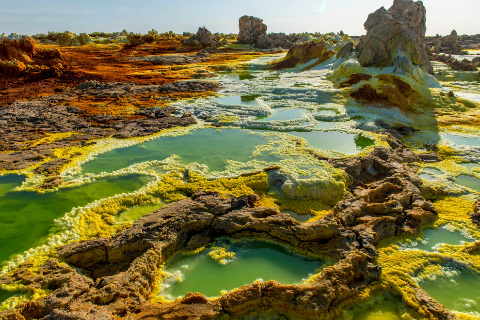 Acid pools in East Africa