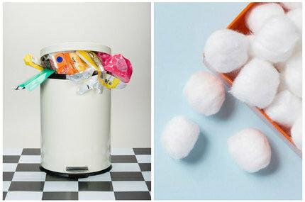 Зачем класть ватный шарик в мусорное ведро запах,мусор,полезные советы