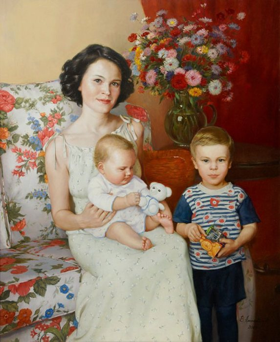 Семейный портрет. Автор: Владимир Александров.