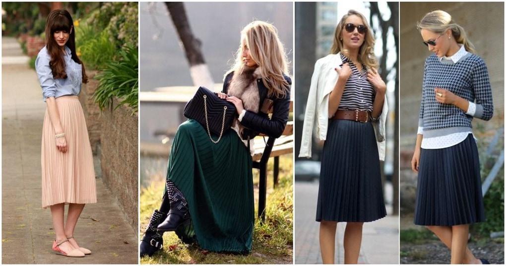 20 стильных образов с модной юбкой плиссе