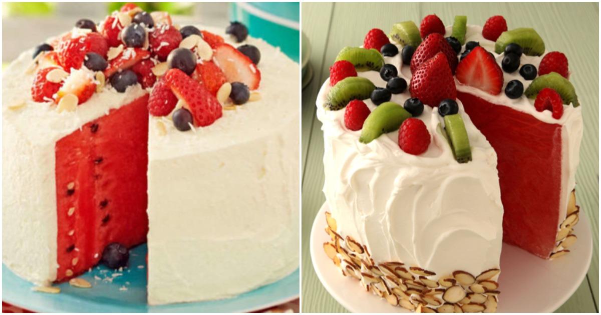 Торт-сюрприз из арбуза: простой рецепт и множество фото для вдохновения