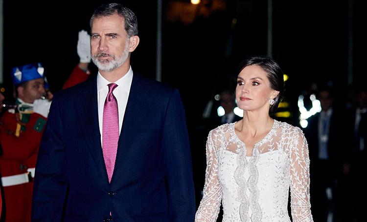 Король Испании Фелипе и королева Летиция побывали на приеме у короля Морокко